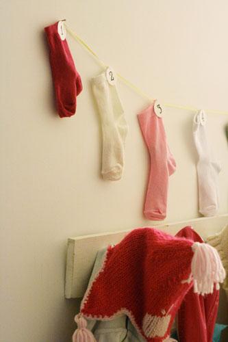 calendrier de l'avent chausettes DIY