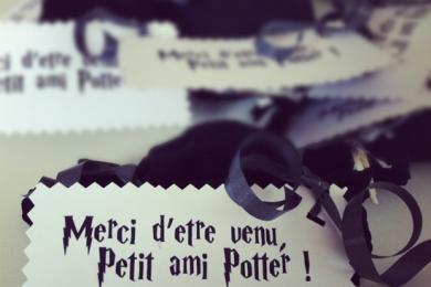 anniversaire Harry Potter cadeaux invités