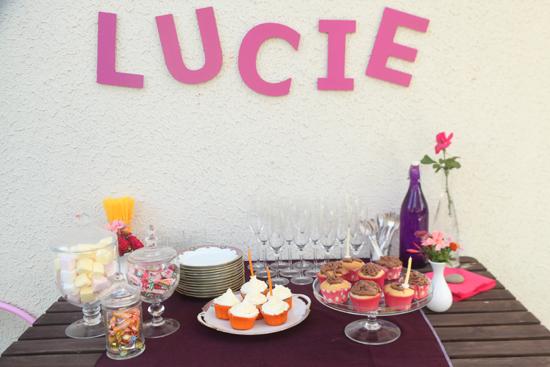 anniversaire petite fille buffet de sucreries déco prénom