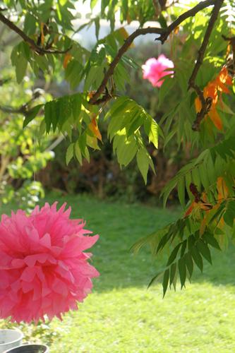 anniversaire petite fille rose et orange