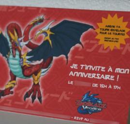 invitation anniversaire Beyblades