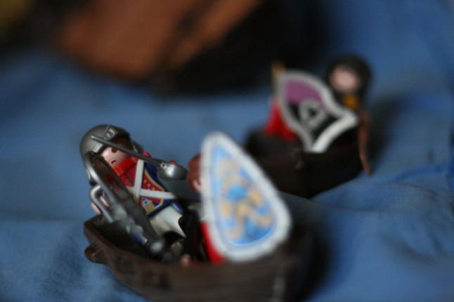 llivre d'histoires pour enfants avec des playmobils DIY mise en scène