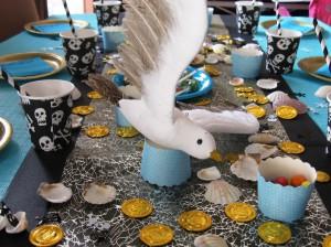 mouette centre de table anniversaire pirates