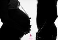 photos de grossesse couple silhouettes