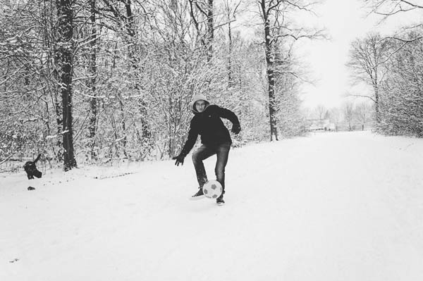 photos famille neige foot
