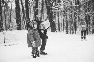 photos famille neige fratrie