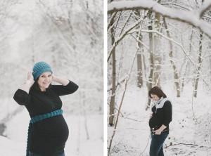 photos famille neige grossesse