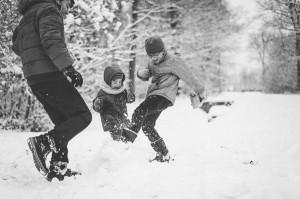 photos famille neige jeu