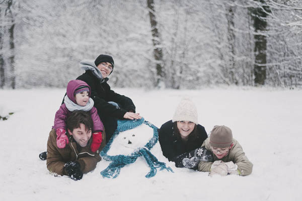 photos famille neige