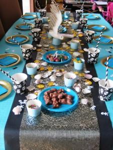 table vue d'ensemble anniversaire pirates