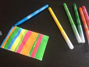 Anniversaire multicolore gourmand cadeaux invités
