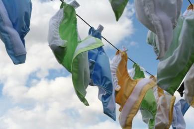 couches lavables sèchent fil à linge
