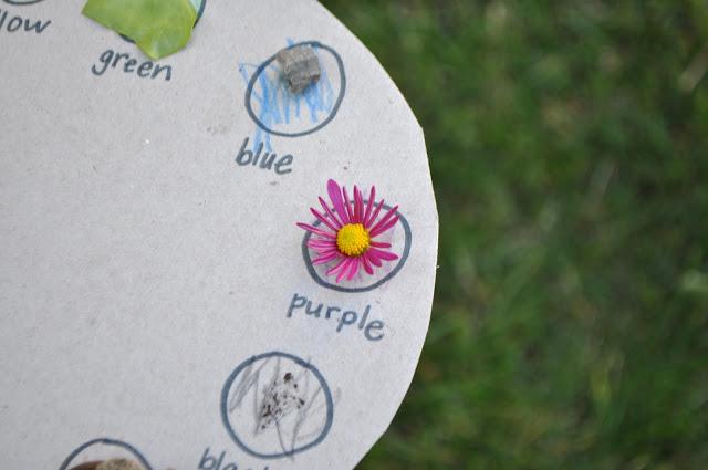 jeu pour jeunes enfants - chasse aux couleurs