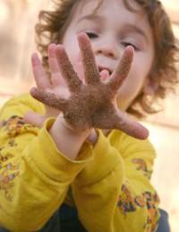jeu pour jeunes enfants - patouillage