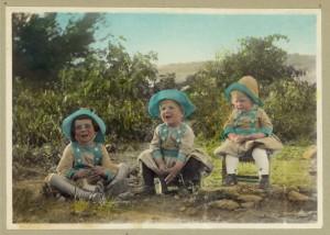 photo ancienne début 20e siècle trois enfants