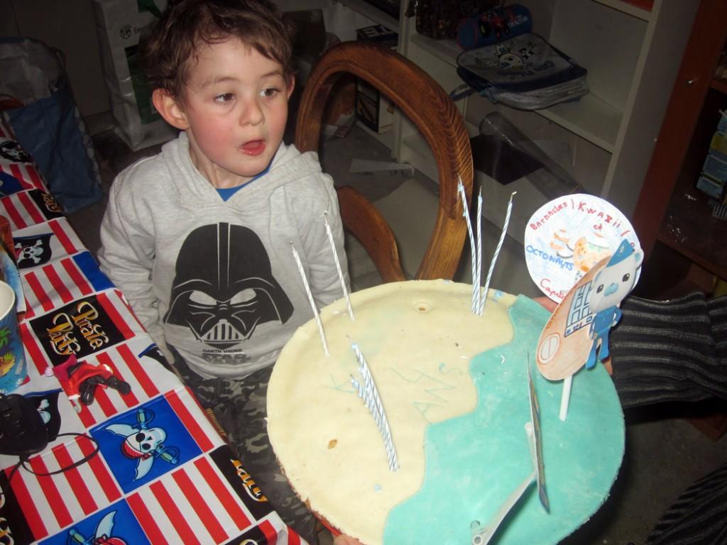 gâteau d'anniversaire thème Octonauts