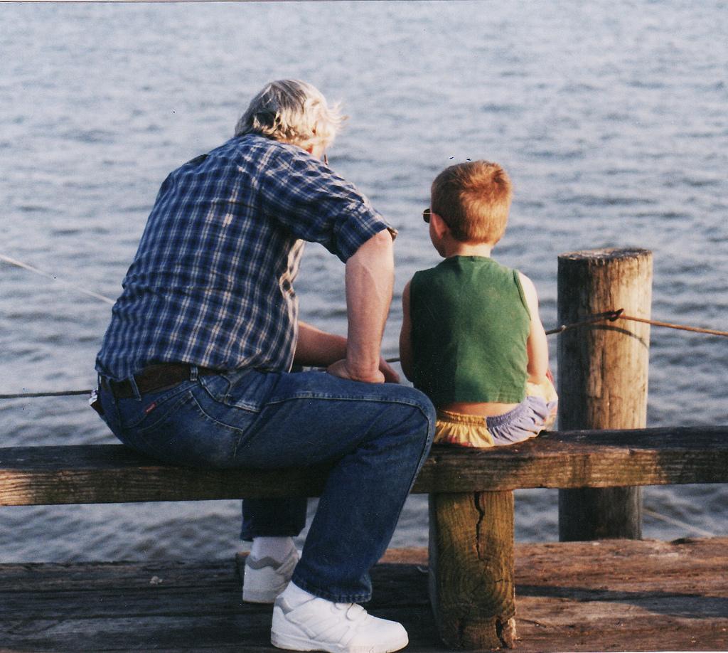 grand-père et petit-fils