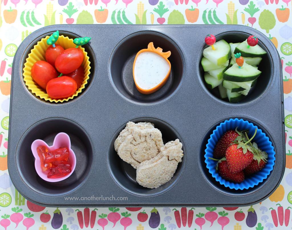 repas légumes et fruits pour enfants