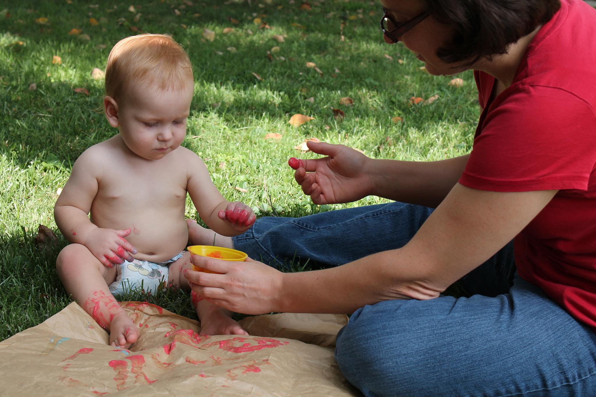 peinture extérieur activité créative enfant