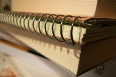 livres et cahiers d'école