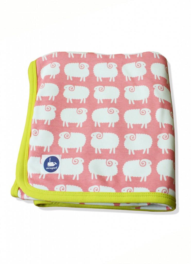 petite couverture moutons coton bio