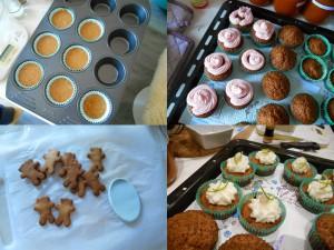 cupcakes et biscuits pour la baby shower