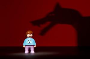 Playmobil peur du monstre ombre chinoise