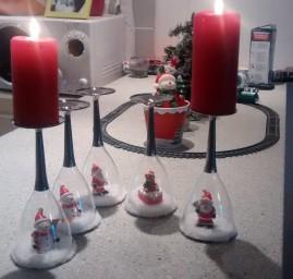 DIY Noël boule à neige bougeoir