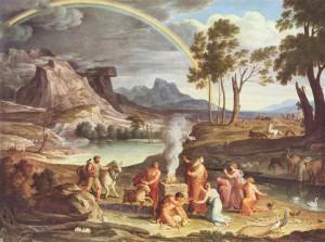 Les offrandes de remerciement de Noé - Joseph Anton Koch