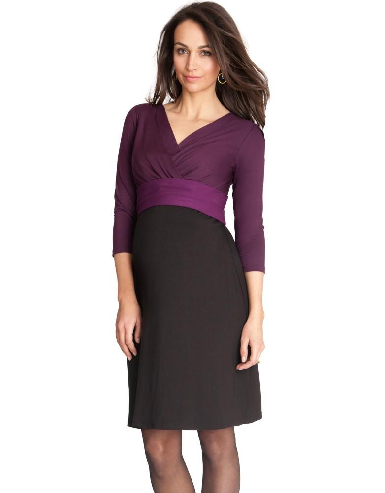 robe de grossesse tricolore prune Seraphine