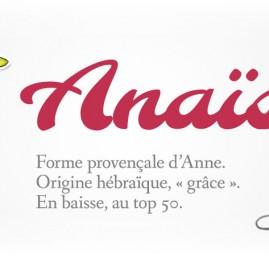 prénom Anaïs