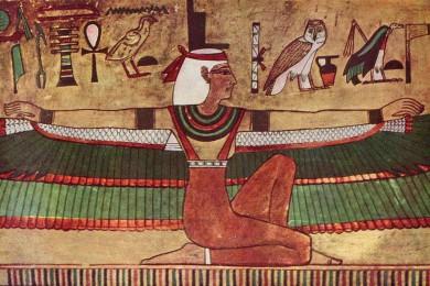 peinture égyptienne déesse Isis