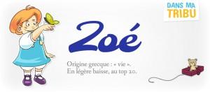 prénom Zoé