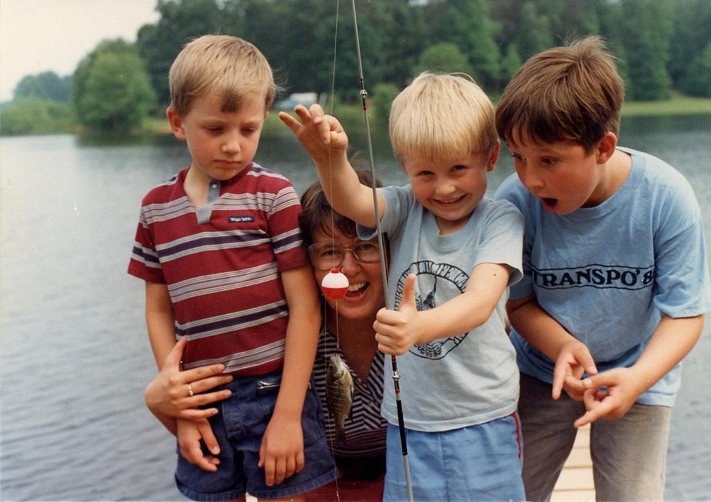 pêche avec enfants - poisson d'avril
