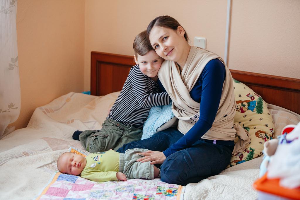 Maman et deux enfants