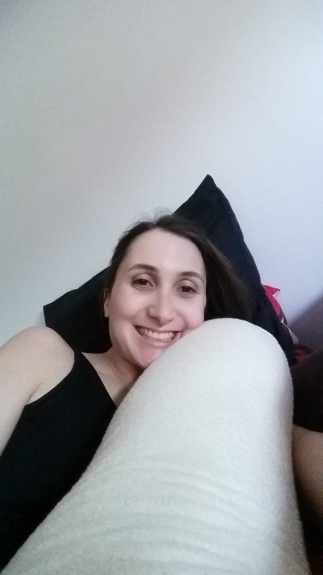 Photo personnelle - mon nouvel amoureux le coussin de grossesse