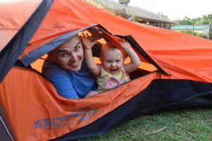 Faire du camping avec un bébé de 2 mois