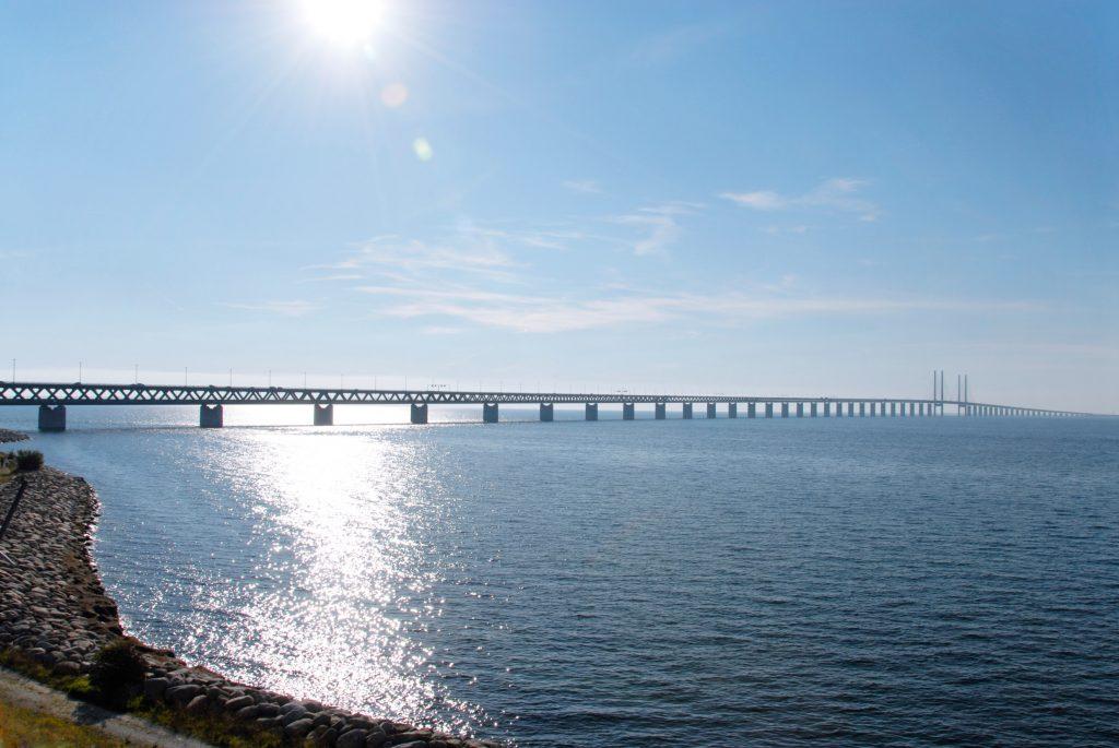 Soleil sur le pont de l'Oresund